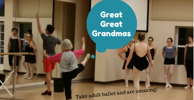 Adult Ballet Savoy, IL Teens to Great Great Grandmothers