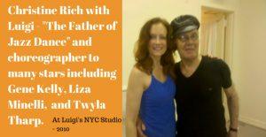 Christine Rich with Luigi Father of Jazz Dance