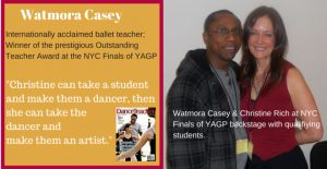 Watmora Casey and Christine Rich at NYC Finals YAGP